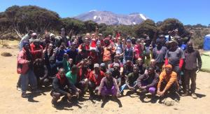 Knight Frank team with their mountain guides