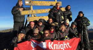 Knight Frank team on summit