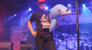 Stage performer with fish