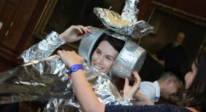 woman in space costume