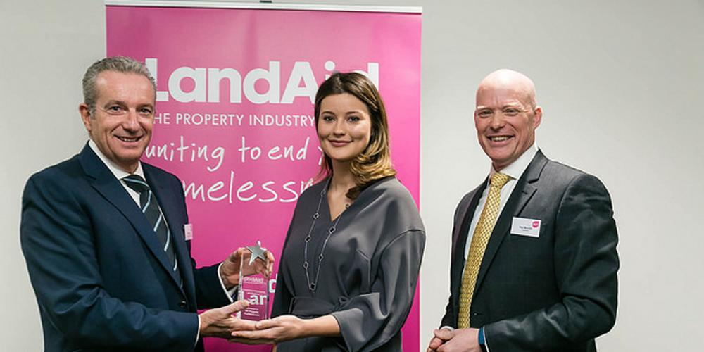 LandAid Ambassador receiving award