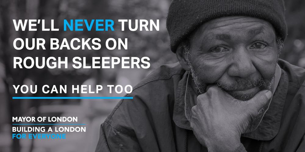 Help Rough Sleepers advert