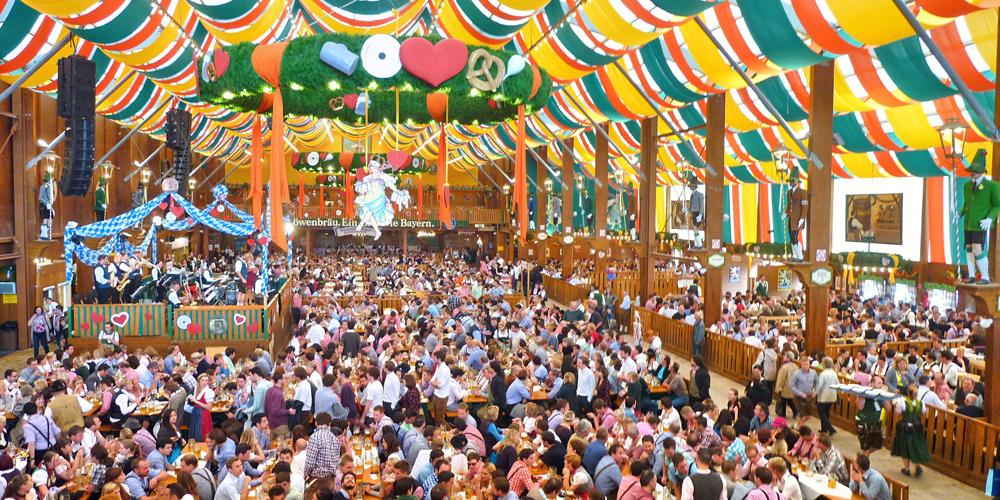 Octoberfest beer hall