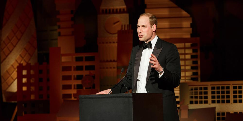 Duke of Cambridge speaking at LandAid Gala Dinner
