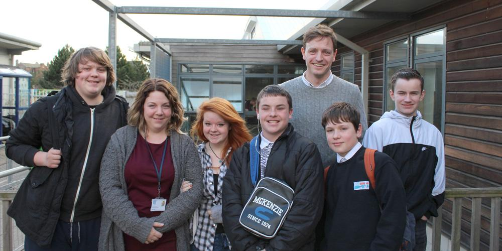 group of young people and property professional
