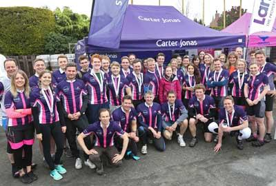 Group of Carter Jonas cyclists