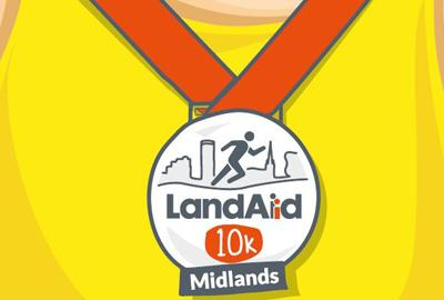 LandAid Midlands 10K logo