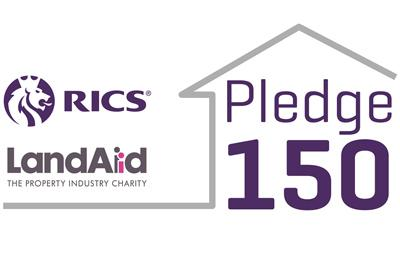 Pledge 150 logo