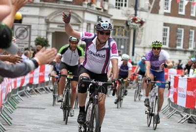 LandAid trustee competing in Ride London