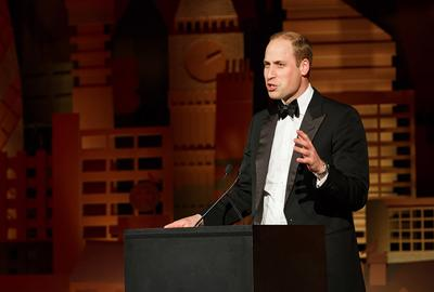 Duke of Cambridge speaking at gala dinner