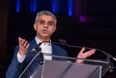 Sadiq Khan addresses audience